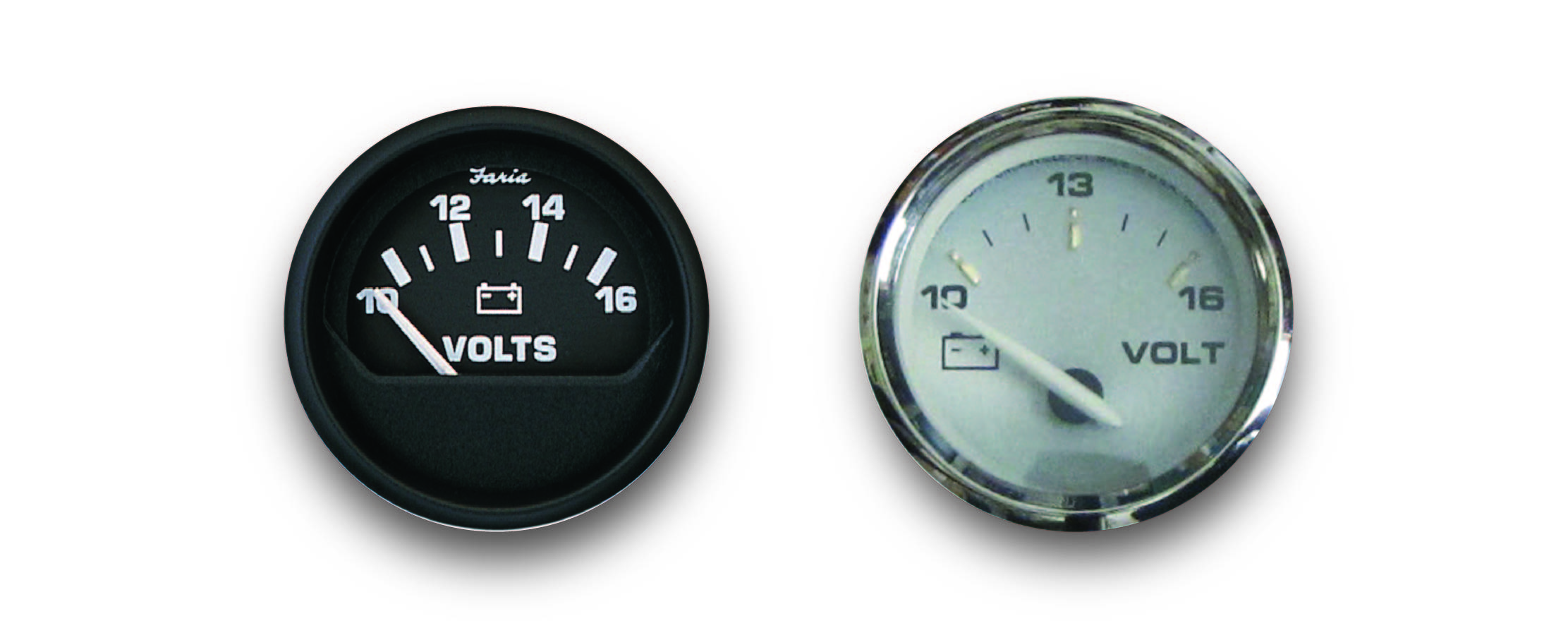 Faria Kronos 2 Voltmeter 10-16Vdc Vp7102 Product Category Boat Outfitting//Gauges Faria Beede Instruments